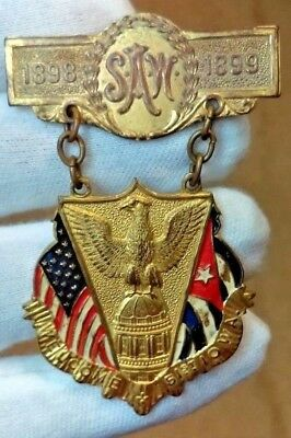 1898-1899 Spanish American War Military Medal 51St. Iowa Medal A Beauty