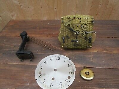 Antique Garrard Clock WESTMINSTER CHIMES Movement + Original Hands & Pendulum
