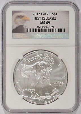 United States 2012 American Silver Eagle $1 NGC MS69 First Releases 3623836-169