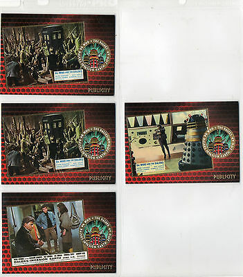 Dr Doctor Who And The Daleks Lot of 4 Gold Foil Chase Cards NM Unstoppable 2015