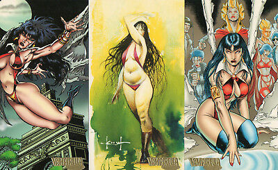 Vampirella Gallery - Lot of 3 different Gold Parallel cards EXC Topps 1995