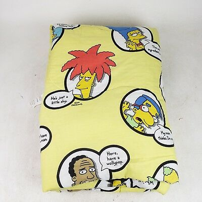 Vintage The Simpsons Mat Groening 2004 Twin Size Comforter Blanket Bart Homer