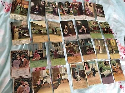 Bulk lot of 136 Old  Bamforth  postcards  of songs:type & rhyme Type & others