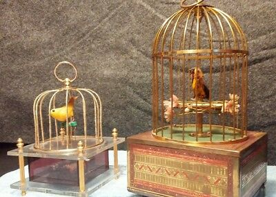 German Automaton Singing & Moving Bird+ Dancing Bird *SEE VIDEO* **MAKE OFFER***
