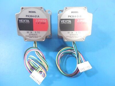 Vexta PK264-01A 2-Phase 1.8°/Step DC 1A 5.7Ω Stepping Motor Lot of 2