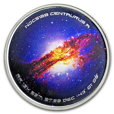 1 oz Silver Colorized Proof Spinner - NGC5128 Centaurus A - SKU#170409