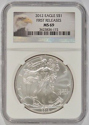 United States 2012 American Silver Eagle $1 NGC MS69 First Releases 3623836-172