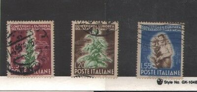 Italy 1950 European Tobacco Conference, Rome  Sc#544-546  Cat 37.75