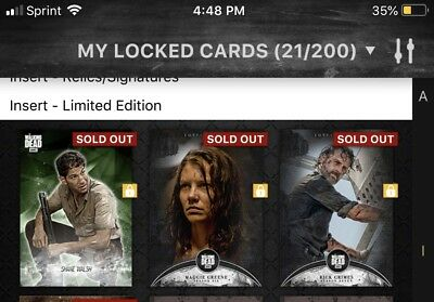 Topps The Walking Dead Card Trader Rare 3 Card Lot