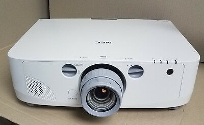 NEC PA550W LCD Projector W/NP13ZL Lens 94 Hours