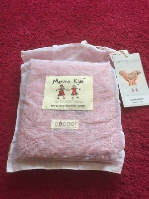Cocooi Babywrap Merino Baby Swaddle and Beanie Set, Raspberry 0-3 Months