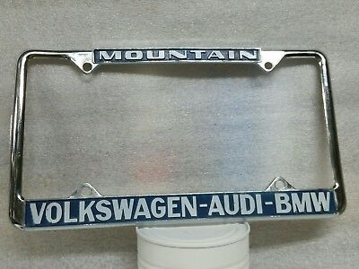 Volkswagen Audi Bmw License Plate Frame And Insert Mountain Vw Flagstaff