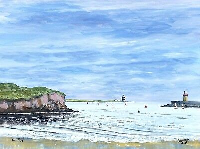 Original Irish Paintings,Irish Art,Dunmore East,Co.Waterford, by Gerry Dillon.
