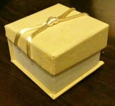 20 Premium Ivory Cardboard Jewellery Ring Gift Boxes Packaging 5x5x3cm