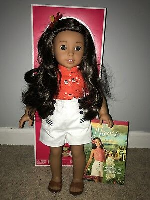 American girl Doll Nanea and Book New With Box 18 inch Doll BEFOREVER