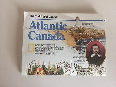 Vtg 1993 Eastern Atlantic Canada National Geographic Magazine Paper Map Labrador