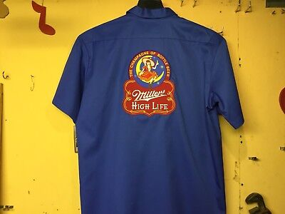 Miller High Life Beer Delivery Guy Work Shirt Dickies Xxl ! ! ! ! ! ! !