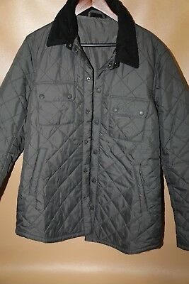 #141 Barbour 'Tinford' Regular Fit Quilted Jacket Size L   GRAY