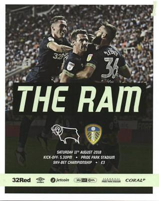 * 2018/19 - DERBY COUNTY v LEEDS UNITED (11th August 2018) *