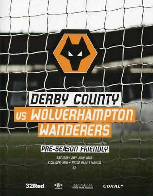 * 2018/19 - DERBY COUNTY v WOLVES / SOUTHAMPTON (FRIENDLYS - JULY 2018) *