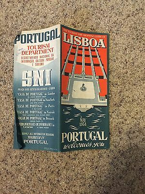 """1954  Portugal welcomes you """"The Tourist and Shopping Guide of Lisboa"""""""