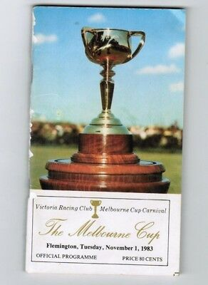 1983 Melbourne Cup Official Race Book - Kiwi - Horse Racing