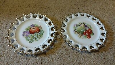 Napco China Hand Painted Decorative Plates