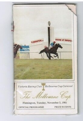 1981 Melbourne Cup Official Race Book - Just A Dash - T J Smith - Horse Racing