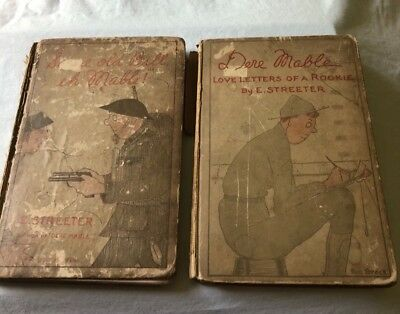 Antique book World War One lot of 2 Dere Mabel Edward Streeter illustrated WW1