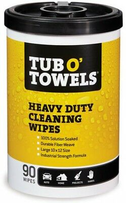 Tub O Towels Heavy-Duty 10' X 12' Size Multi-Surface Cleaning Wipes, 90 Count