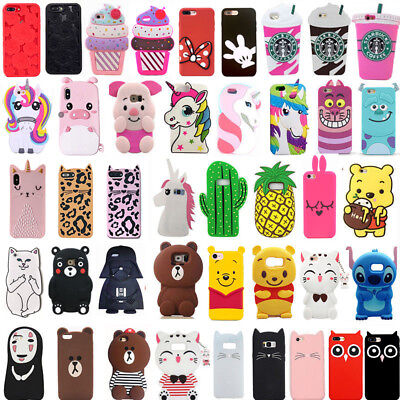 3D Cute Cartoon Soft Silicone Phone Case Cover For Samsung S8 S8Plus S9 S9Plus