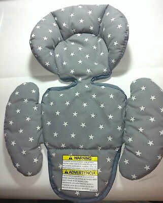 Graco Infant Baby Car Seat Gray Body Back Pillow Cushion Insert Support