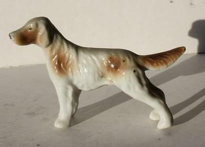 Pointer Dog Figurine-Made in Japan Ceramic-Porcelain-Adorable-Hand Painted-LOOK