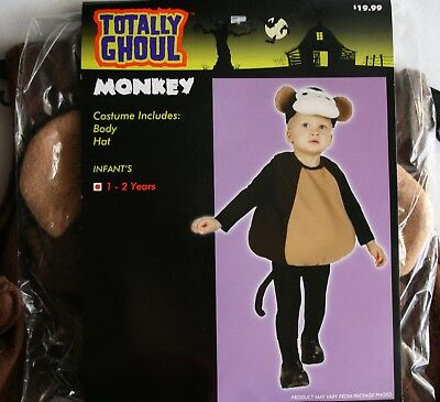 Halloween Costume Monkey Totally Ghoul Baby/Toddler Size Ages 1-2 Years NWT