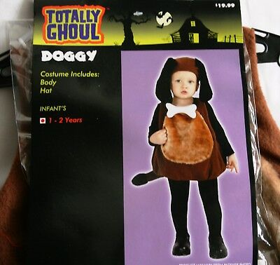Halloween Costume Doggy Totally Ghoul Baby/Toddler Size Ages 1-2 Years NWT