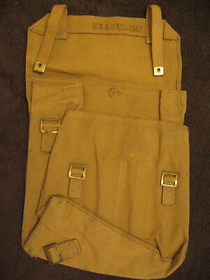 WWII Canadian small pack, 1942 dated. P37 webbing. Rare!
