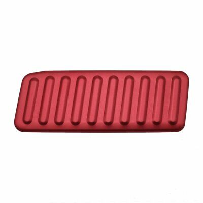 Red Foot Rest Pedal Cover Trim Anti-Slip Kick Panel Decoration for For Mustang