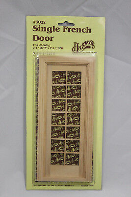 VTG 80s Single French Door No 6022 Dollhouse Miniature Old Raw Wood 1/12 Scale