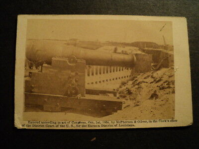 Mcpherson & Oliver Louisiana Civil War Photograph Cannon And Fort 1864
