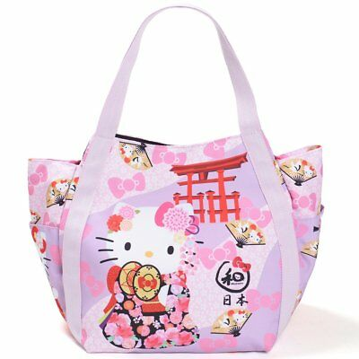 d77988979be2 HELLO KITTY TOTE Bag Mother s Bag Kimono Rickshaw Japanese Pattern ...