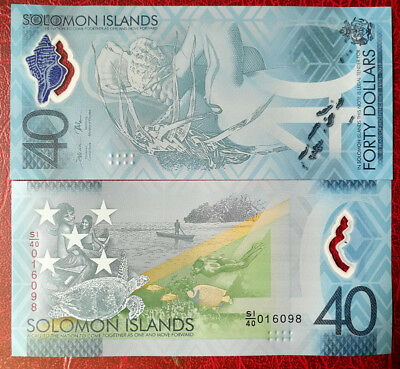 Solomon Islands  40 Dollars 2018 UNC COMM. BANKNOTE CURRENCY OCEANIA