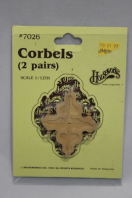 VTG 80s Houseworks Corbels 2 Pairs No 7026 Wooden Craft Victorian Dollhouse