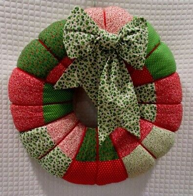 Vintage Patchwork Christmas Wreath