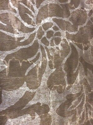 "SCHUMACHER ""Luette Damask"" 100% Cotton, LOT OF 4 Fabric Samples 27"" x 26 1/2"""