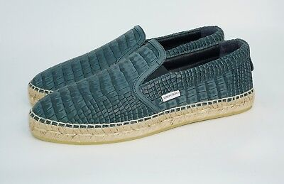 561fec0011a2 JIMMY CHOO MEN S Vlad Croc-Embossed Leather Espadrilles