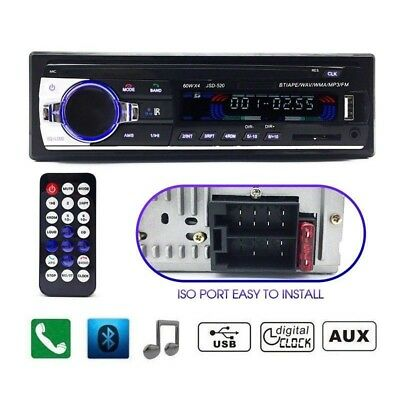 Car Radio Bluetooth Stereo Head Unit MP3/USB/SD/AUX-IN/FM In-dash Player 1DIN C5
