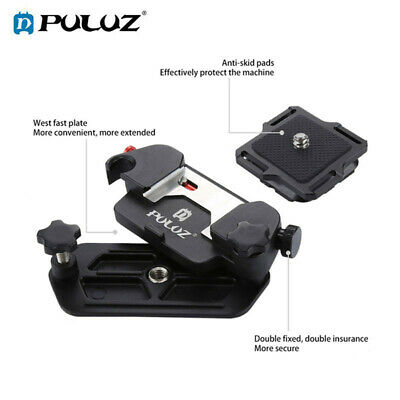 PULUZ For DSLR Capture Camera Clip Aluminum Alloy Quick Release Clip with Plate