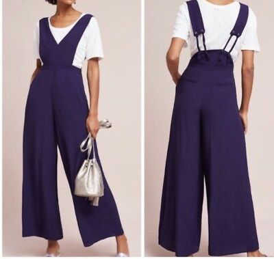 8c7be07dff ANTHROPOLOGIE MAEVE FINLEY Wide Leg Jumpsuit Size 4 -  48.99