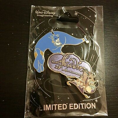 Disney Pin WDI D23 Aladdin 25th Anniversary Genie Jasmine Abu LE 200 New on Card
