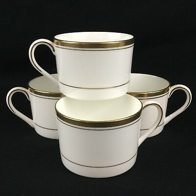 Set of 4 Vintage Tea/Coffee Cups by Coalport Connoisseur Gold England Retired